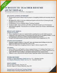 Sample Resume Substitute Teacher 28424 Cd Cd Org