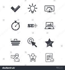 Internet Seo Icons Bandwidth Speed Online Stock Vector
