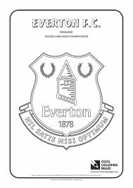 Everton F C Logo Coloring Coloring