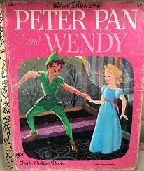 Peter Pan book Walt Disney's Peter Pan and Wendy Little | Etsy