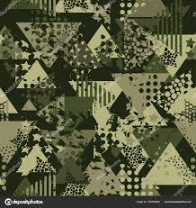 Abstracte Camouflage Naadloze Patroon Textuur Militaire Herhaalt