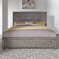 Modern Farmhouse Contemporary Queen Low Profile Bed by Liberty Furniture at Lindy's Furniture Company