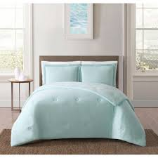 truly soft everyday solid jersey aqua twin extra long comforter set