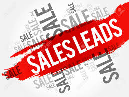 Sales Leads Words Cloud Business Concept Background Royalty Free