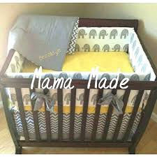brooklyn nursery bedding set elephant mini crib bedding elephant and chevron mini crib bedding set elephant