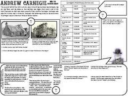 Andrew Carnegie Graphic Organizer Social Studies Andrew
