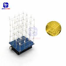 Tự Làm Bộ 74HC595 3D LED Điện Tử 4X4X4 Đèn LED Xanh Dương/Xanh Lá/Hồng/Vàng  64 Cuboids Che Chắn Cho Arduino I/O IO Mở Rộng Ban|diy kit|kit diydiy  electronic kit - AliExpress