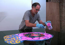psychedelic art poured resin paintings bruce riley 1