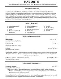 Example Of Accounting Resume Sample Accounts Receivable Payable Job