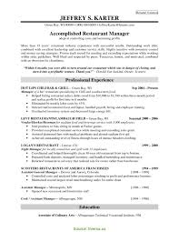 Bartender Manager Resume New Restaurant Manager Resume Sample Pdf