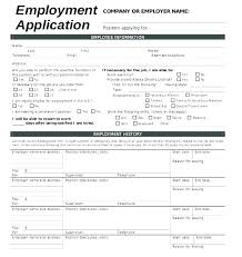 Employment Job Application Form Basic Job Application Form Template Free Employment Word Document