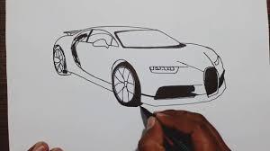 Es un dibujo de una perspectiva baja, con bastantes detalles como para tener un buen ejemplo de dibujo de coche deportivo. How To Draw Bugatti Chiron Youtube