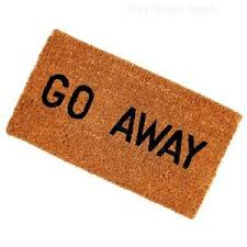 Marvelous Image Is Loading Go Away Entrance Novelty Coco Coir Welcome Door