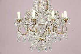 8 light crystal beaded chandelier dalila