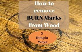 how to remove burn marks from wood 5