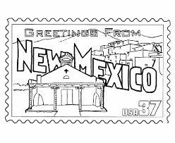 Small Picture New Mexico State Stamp Coloring Page USA Coloring Pages