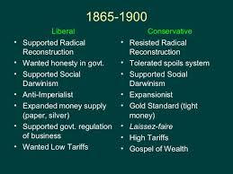 Imperialists Vs Anti Imperialists Venn Diagram Liberal Vs Conservative Apush Review