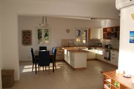 tile flooring ideas dining room black wooden table kitchen and interior chairs combined with white cabinet