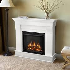 real flame 40 9 in w white fan forced electric fireplace