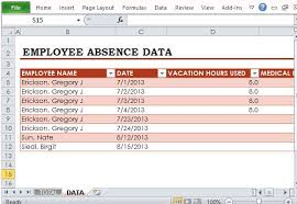 Employee Time Off Tracking Spreadsheet Absence Tracker Rome Fontanacountryinn Com