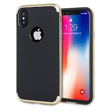 iphone x accessories. olixar x-duo iphone x case - carbon fibre gold iphone accessories p