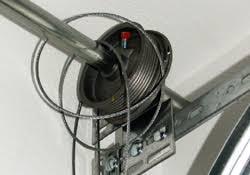 replace broken garage door cable