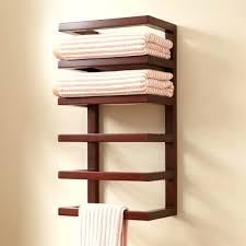towel rack with hooks. Wall Towel Rack Storage Bathroom With Basket Hanger Hooks R