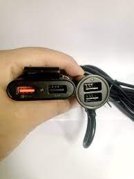 Tẩu Sạc Xe Hơi 4 cổng USB (Hỗ Trợ Sạc Nhanh)