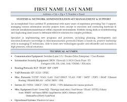 Network Administrator Resume Sample Sample Resume Letters Job