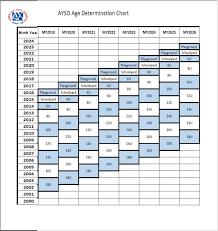 Ayso Age Chart