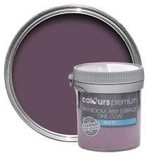 Colours Premium Blackcurrant Matt Emulsion Paint 0.05L Tester Pot |  Departments | DIY at B&Q