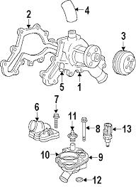 parts com® ford bolt partnumber w716735s437 2002 ford explorer xls v6 4 0 liter gas water pump