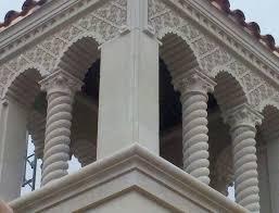 Highland Park High Design Custom Columns