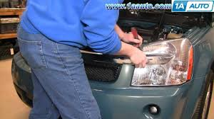 how to install replace headlight and bulb chevy equinox 05 09 1aauto Volkswagen Golf Wiring Diagram at 2006 Chevrolet Equinox Wiring Diagram Front Light