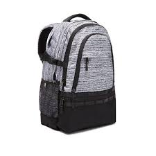 victoria s secret pink grey collegiate backpack