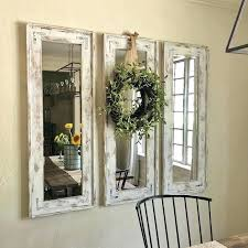 wall mirrors 3 piece wall mirror set mirrors stunning set of three round rectangular wall
