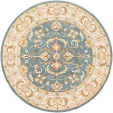 oxford aria teal 6 ft x 6 ft round indoor area rug