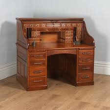 london oak large pedestal home. Antique English Victorian Oak Roll Top Pedestal Office Desk (Circa 1890) - Yolagray. London Large Home H