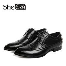 Plus Size 38 48 Retro Brogue Formal Shoes Men <b>Split Leather</b> ...