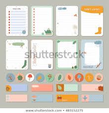 Cute Daily Calendar Do List Template Stock Vector Royalty Free