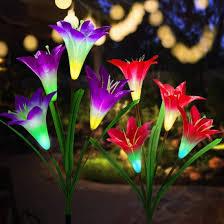 china solar garden stake lights multi