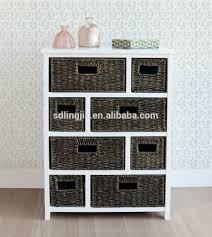 Wicker Basket Cabinet Corner Wicker Basket White Wood Cabinet Organizer Clothes Rack
