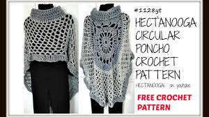 Youtube Free Crochet Patterns Extraordinary CROCHET A CIRCULAR PONCHO MANDALA CAPE ASYMMETRICAL SHAWL