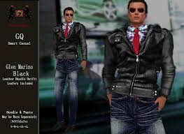 Second Life Marketplace - GQ Glen - Marino Leather Hoodie Outfit ...