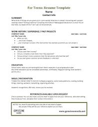 Resume Teen Teen Resume Templates