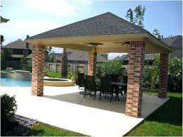 covered patio cost outdoor roof deck best of beautiful backyards to build construction estimator