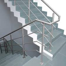 panel and bar silver stainless steel railing