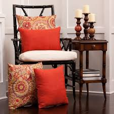decorative pillows in chair