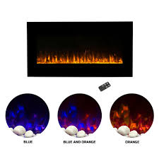 northwest 36 inch wall mounted electric fireplace led fire and flame effect com