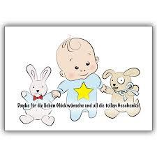 Süße Dankeskarte Für Die Glückwünsche Zur Geburt Mit Baby Boy